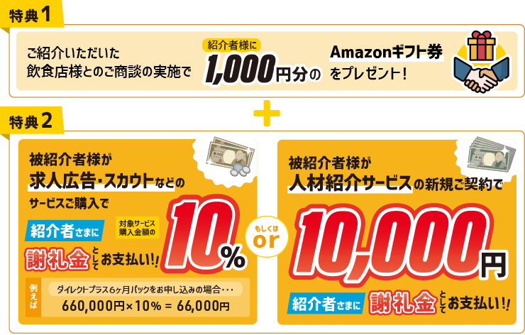 ご紹介料として1000円相当のAmazonギフト券をプレゼント!