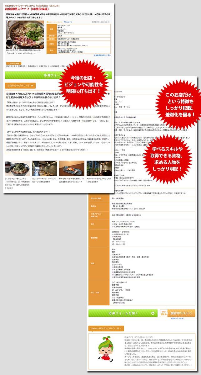 そばと和食の「EBISU蓮」の求人広告