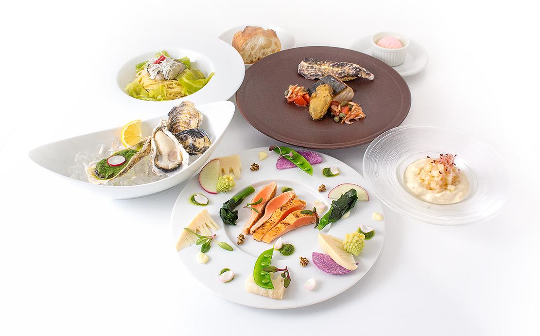 牡蠣を使用したさまざまな一皿