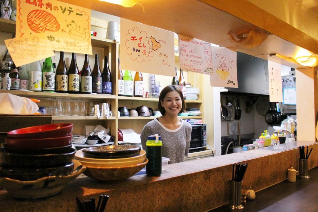 日本酒うさぎカウンター