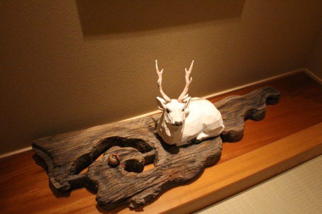 夢窓庵の店内に飾られている置物