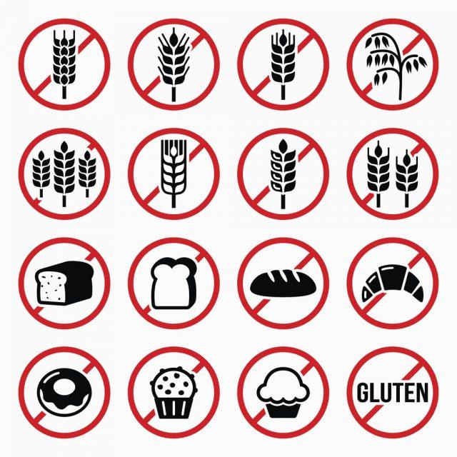 グルテンフリー、小麦、パン、ケーキの標識
