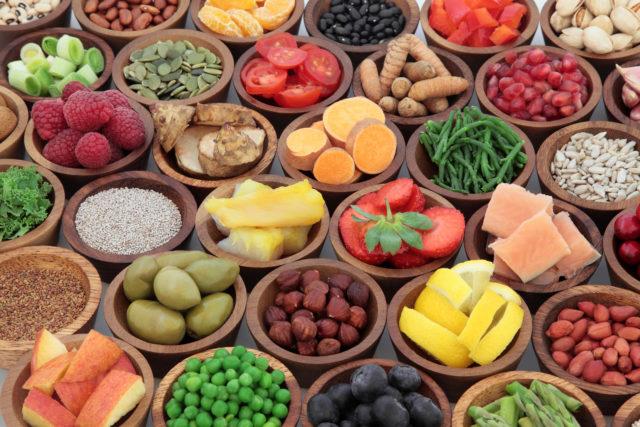 野菜、フルーツ、ナッツ類