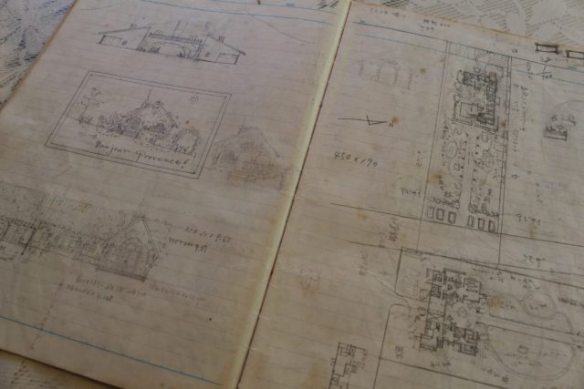 使い込まれた雰囲気のあるノートには細かくお店のイメージが書かれている