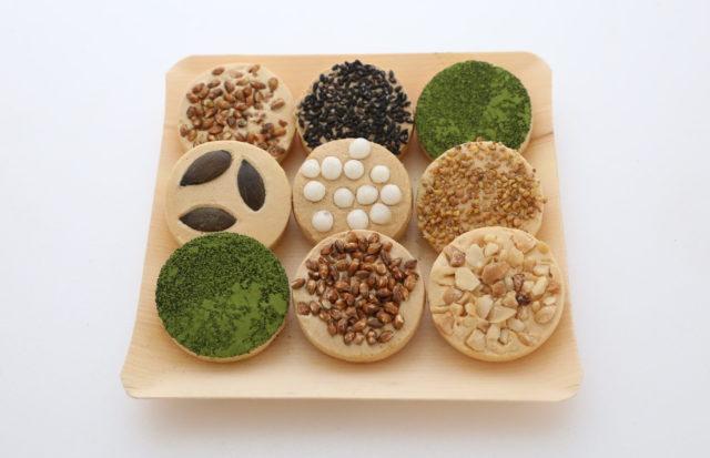 9種類1セットの和菓子の写真