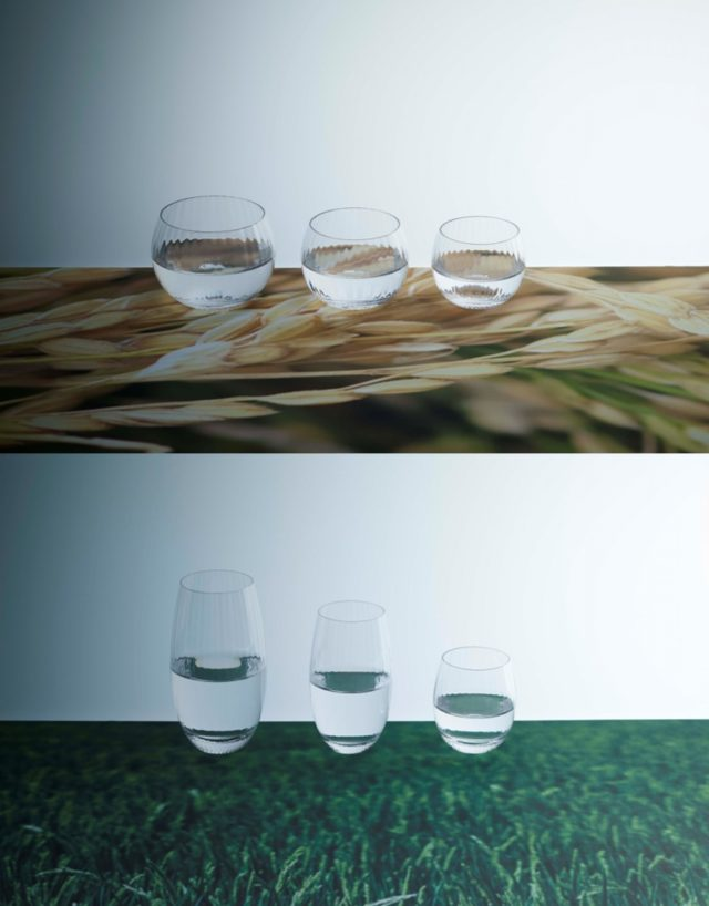 「Mai」シリーズのグラスの写真