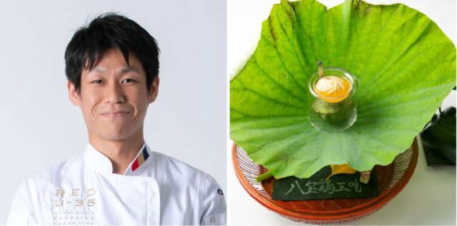 「Wakiya一笑美茶樓」立岩幸四郎さんと料理の写真