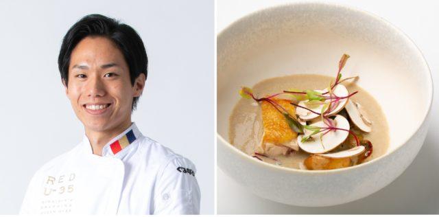 「レストランBio-s」本岡将さんと料理の写真