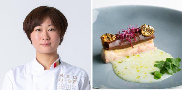 「コンラッド東京」山本紗希さんと料理の写真