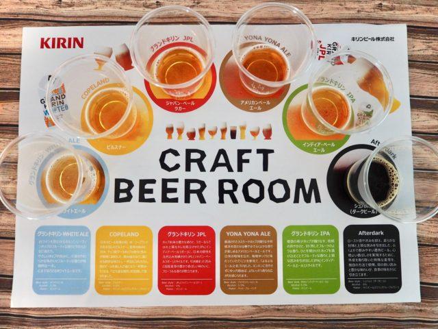 クラフトビール6種をテイスティング