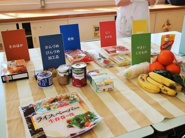 フードサルベージ主催のサルベージパーティーに持ち寄られた食材の写真