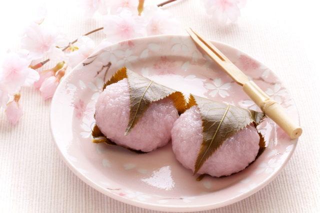 関西風(道明寺)の桜餅