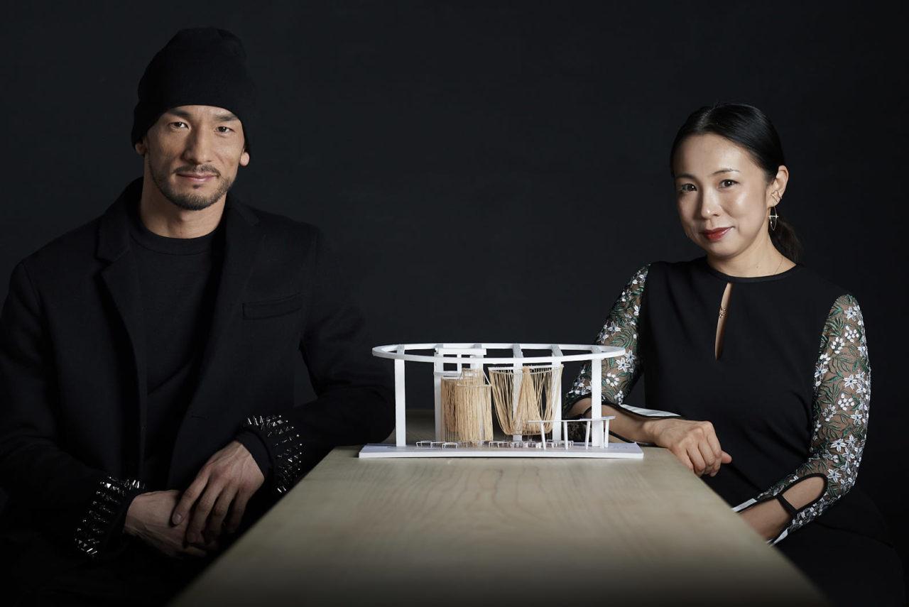 中田英寿さんと永山祐子さんのお二人の画像
