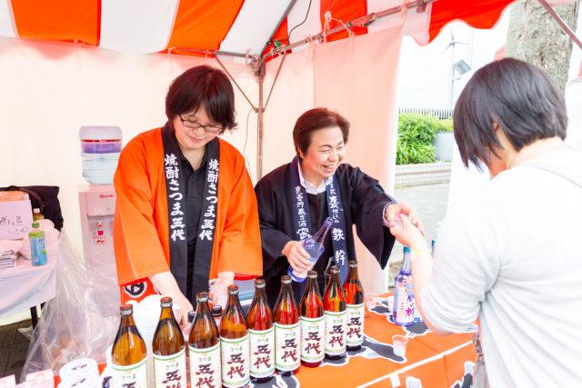 昨年の「鹿児島焼酎&ミュージックフェス」の出展者の写真