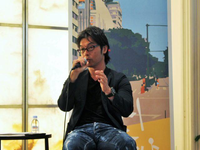登壇者の松田さんが話している写真