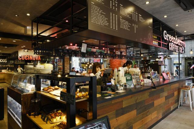 グリーンベリーズ コーヒーの店内カウンターの写真