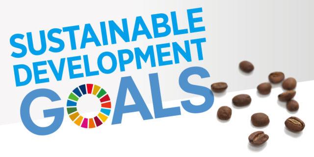 SDGsの正式名とコーヒー豆の画像