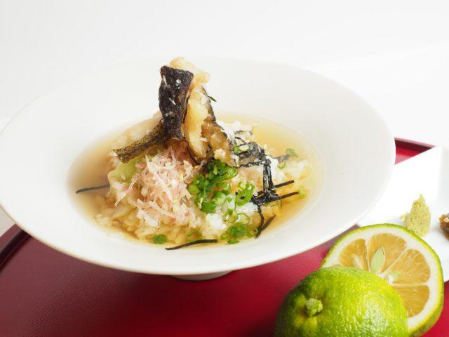 サウスブリーズホテルの「ウツボと旬野菜の土佐茶漬け」の写真