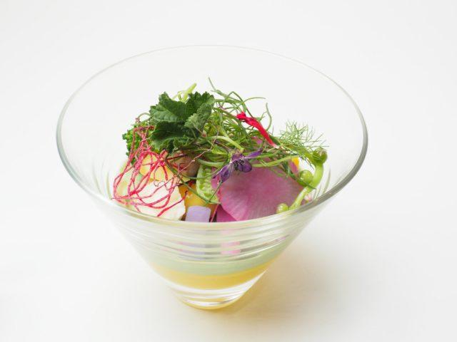 那須温泉 ホテルエピナール那須の「野菜スープ南瓜フラン 栃木テロワール」の写真