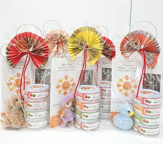 佐賀大学附属病院の小児病棟で付き添う家族向けに無料配布された缶詰4缶セット