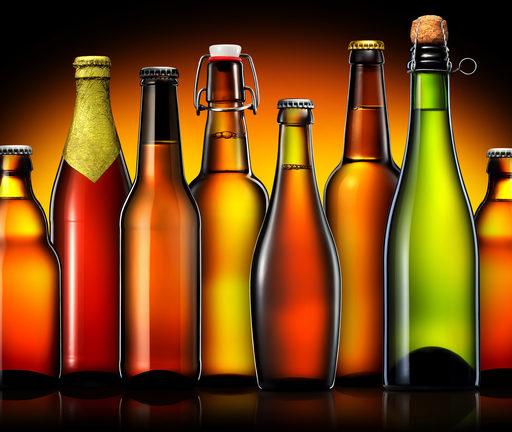 さまざまな種類のビンの画像