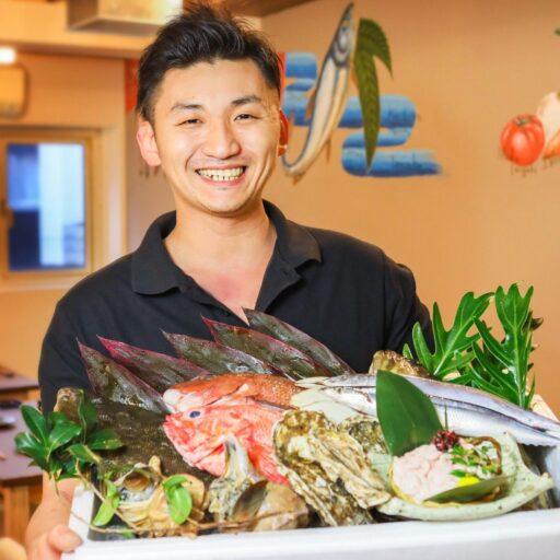新鮮な食材と藤井 将一さんの写真