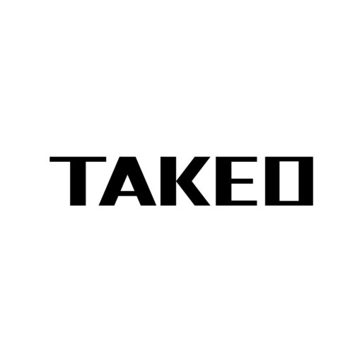 「TAKEO」のロゴ