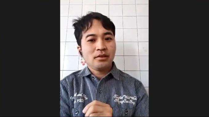 オンライン座談会で吉川さんについて語る川崎さん