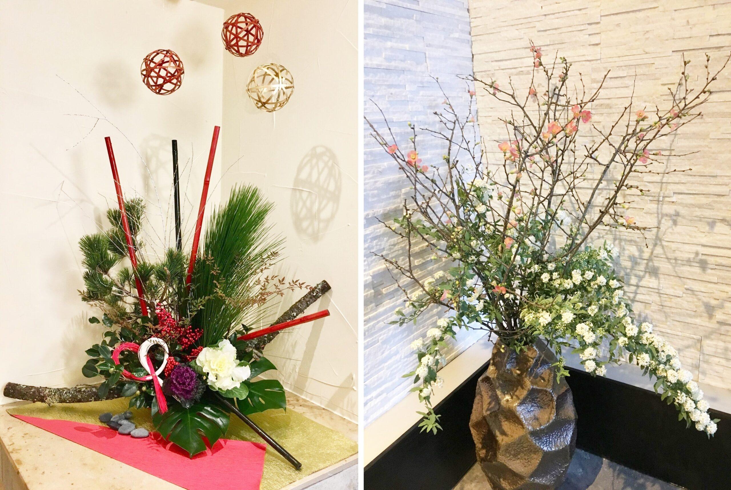 冬や春を連想させる、季節を感じる店内ディスプレイの例の写真