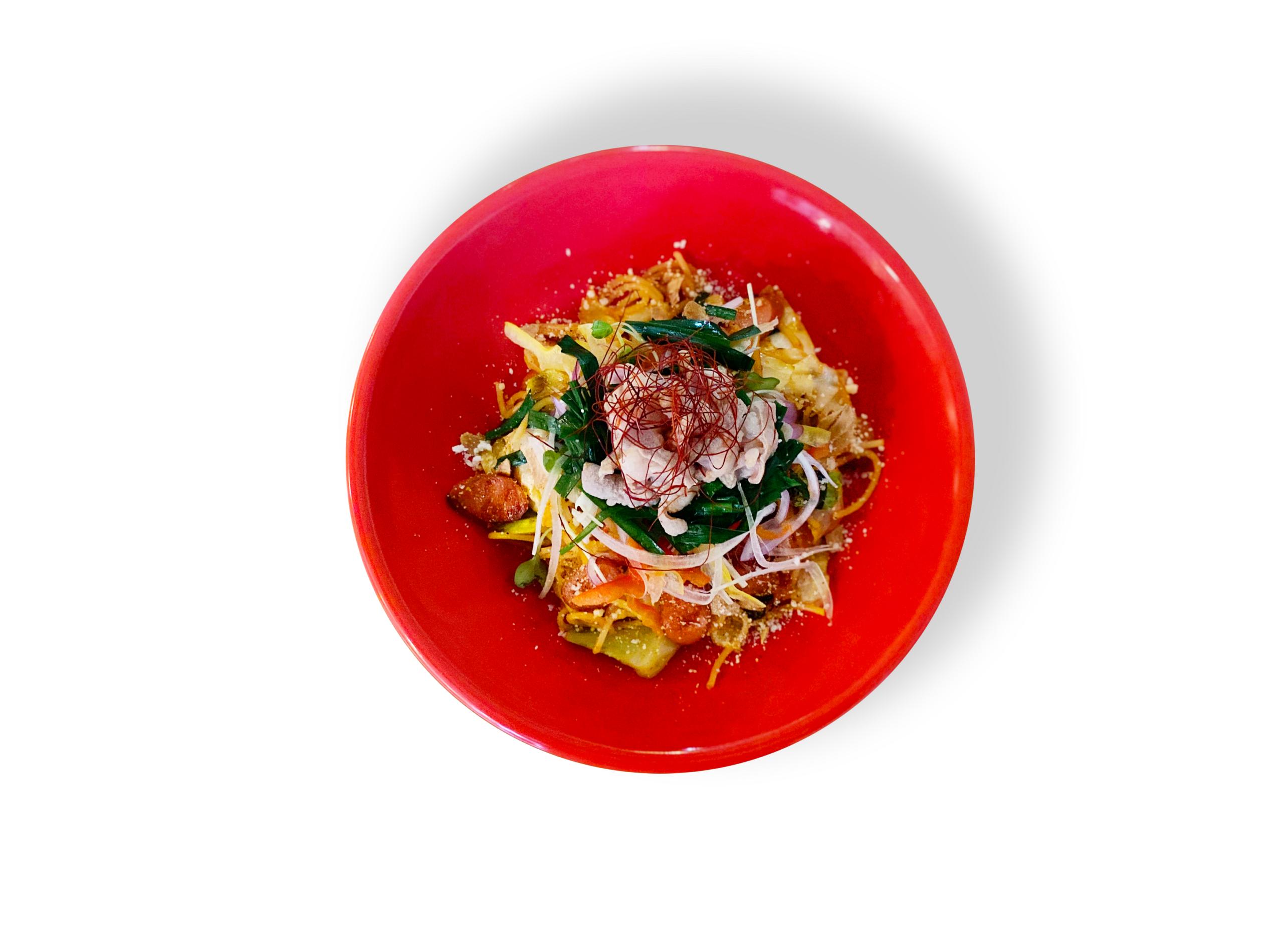 「チーズ&ワイン みんなのイタリアン 大濠公園駅店」の『博多もつナポ』の写真