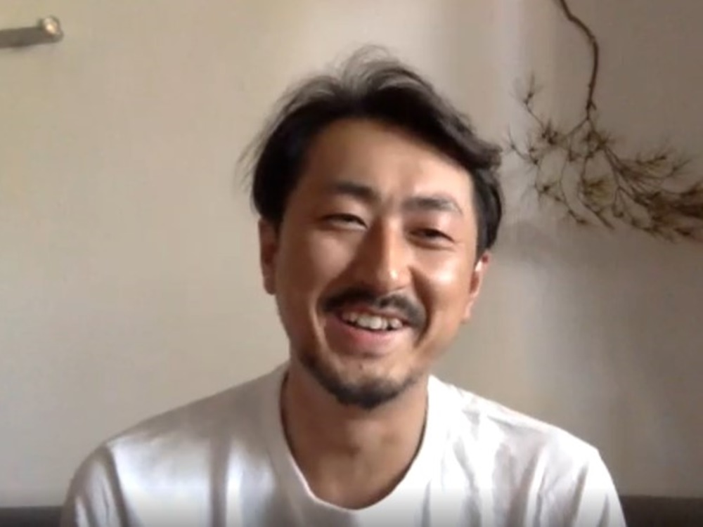 オンラインインタビュー中の森山さん