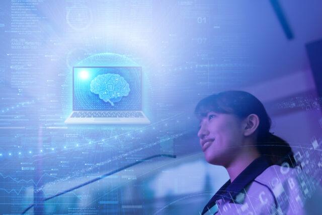 科学的に脳を解析してるイメージ